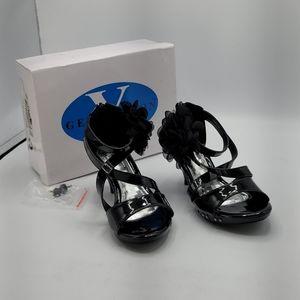 Generation Y black slipper heels size 3 girls